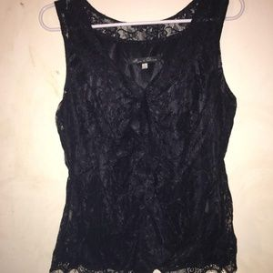Womens Rose & Olive Lace Top